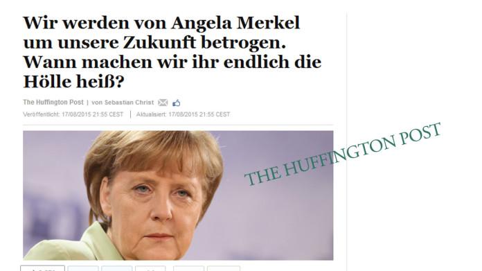 Huffpost: von Merkel betrogen